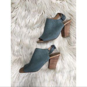 Franco Sarto Leather Block Heels